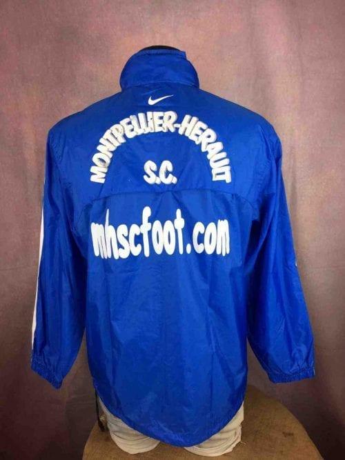 Veste Montpellier Herault SC, Marque Nike, Version entrainement, Nylon, Taille S, Couleur Bleu et Blanc, Football Ligue 1 K-Way Imperméable Sports Homme