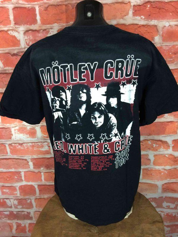 MOTLEY CRUE T Shirt Red White Crue Tour 2005 Gabba Vintage 4 scaled - MOTLEY CRUE T-Shirt Red White Crue Tour 2005