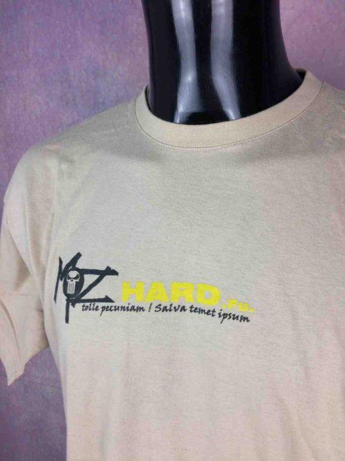 T-Shirt MOZHARD, édition Tolle Pecuniam Salva Temet Ipsum, double face avec visuel différent au dos, marque B&C, Véritable vintage années 00s, Gabber Hardcore Hardteck Hardfloor