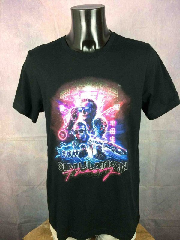 MUSE T Shirt Simulation Theory Cover Double Sided Stacked Logo Tour Band Gabba Vintage 2 scaled - MUSE T-Shirt Simulation Theory Cover Album