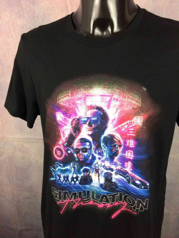 MUSE T Shirt Simulation Theory Cover Double Sided Stacked Logo Tour Band Gabba Vintage 3 scaled - MUSE T-Shirt Simulation Theory Cover Album
