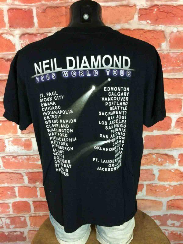 NEIL DIAMOND T Shirt Concert World Tour 2008 Gabba Vintage 2 - NEIL DIAMOND T-Shirt Concert World Tour 2008