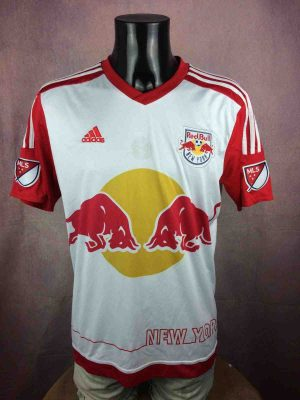 Maillot NEW YORK RED BULLS, Floqué Henry N°14, version Home, saison 2015 2017, de marque Adidas daté du 05/14, Technologie ClimaCool, MLS Football Jersey Camiseta Maglia Trikot Football