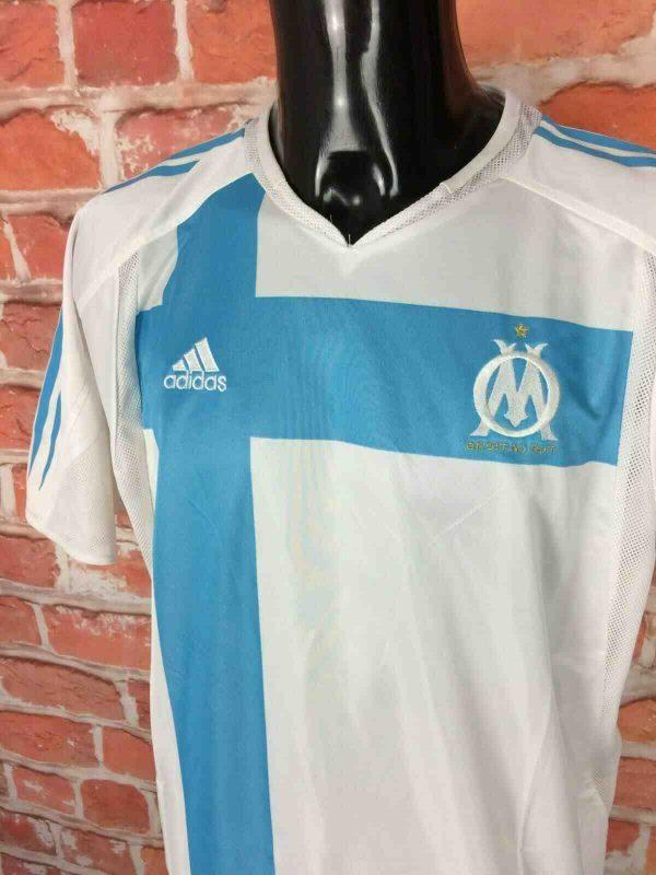 OM Maillot 2004 2005 Adidas Home No Sponsor Gabba Vintage 4 - OM Maillot 2004 2005 Adidas Home No Sponsor