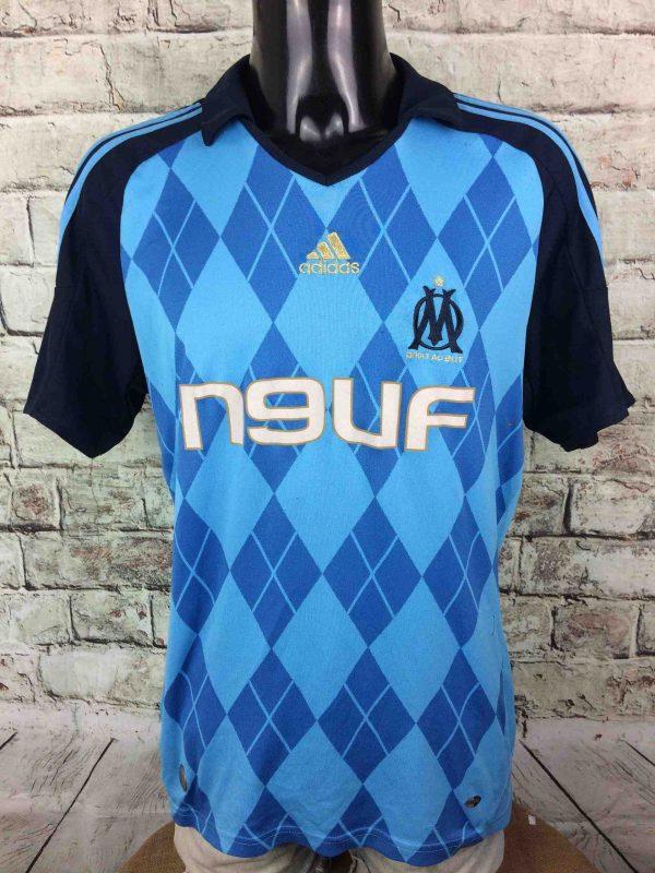 Maillot MARSEILLE, Saison 2008 2009, Version Away, Marque Adidasdaté du 06/08, Technologie Clima365, Sponsor Neuf, OM Ligue 1 FranceJersey Trikot Camiseta