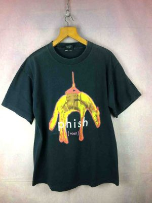 T-Shirt PHISH, édition Hoist Tour 1994, double face avec dates de la tournée au dos, marque Giant, Made in USA, Véritable vintage années 90, Concert Rock Alternative Grunge