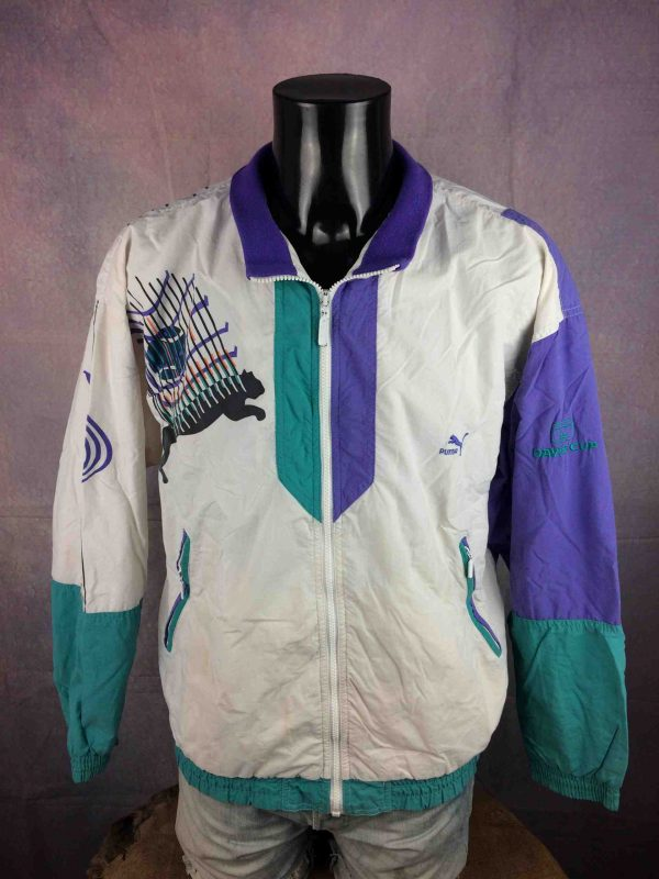 PUMA Veste Davis Cup Vintage 90s Tennis - Gabba Vintage (1)