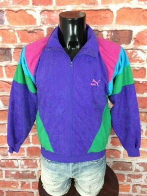 Veste Jogging PUMA, Véritable vintage années 80s, Made in France Sport Rave Gabber Unisex