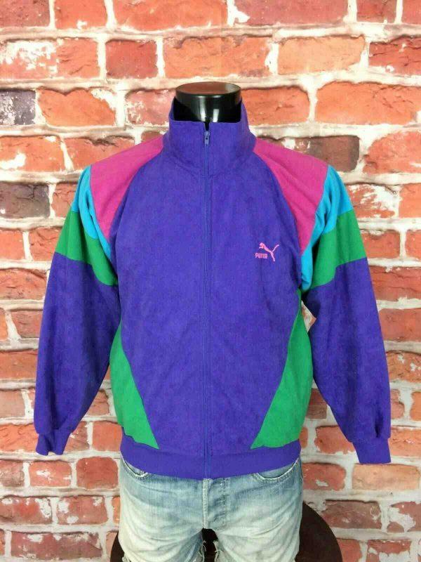 PUMA Veste Vintage 90s Made in France Gabber Gabba Vintage 2 - Veste Vintage PUMA Années 80s Made in France Sport Rave Gabber Unisex