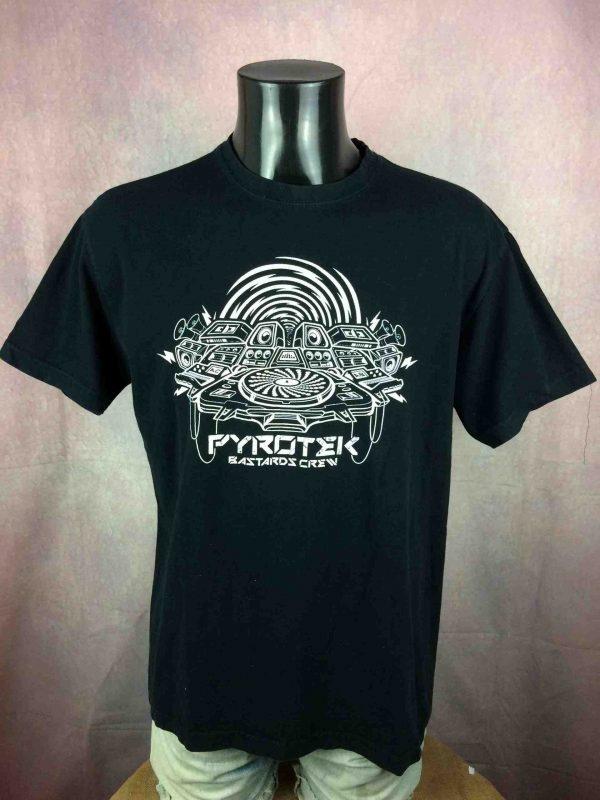 PYROTEK BASTARDS CREW T Shirt Techno Underground Mix Hardtek Live Tribe Electro Gabba Vintage 3 scaled - PYROTEK BASTARDS CREW T-Shirt Techno Hardtek