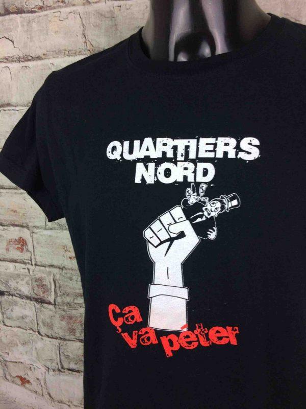 T-Shirt QUARTIERS NORD, édition Ça Va Péter, marqueStedman, Concert Marseille Legends France Collectif OM Rock