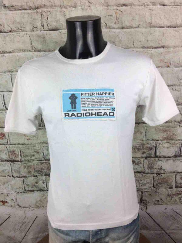 RADIOHEAD T Shirt Fitter Happier WASTE 1997 Gabba Vintage 2 rotated - RADIOHEAD T-Shirt Fitter Happier WASTE 1997
