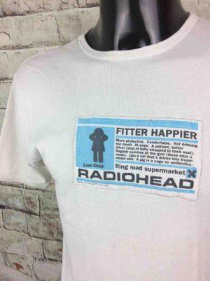 RADIOHEAD T Shirt Fitter Happier WASTE 1997 Gabba Vintage 3 rotated - RADIOHEAD T-Shirt Fitter Happier WASTE 1997