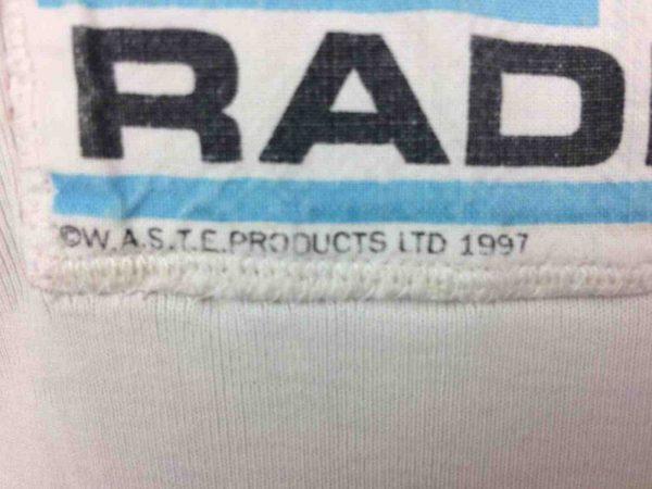 RADIOHEAD T Shirt Fitter Happier WASTE 1997 Gabba Vintage 4 - RADIOHEAD T-Shirt Fitter Happier WASTE 1997
