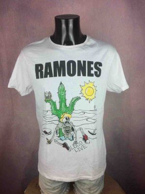 T-Shirt RAMONES, édition Loco Live, année 2017 , Official License © Ramones 1234, Concert Punk Rock Cartoon