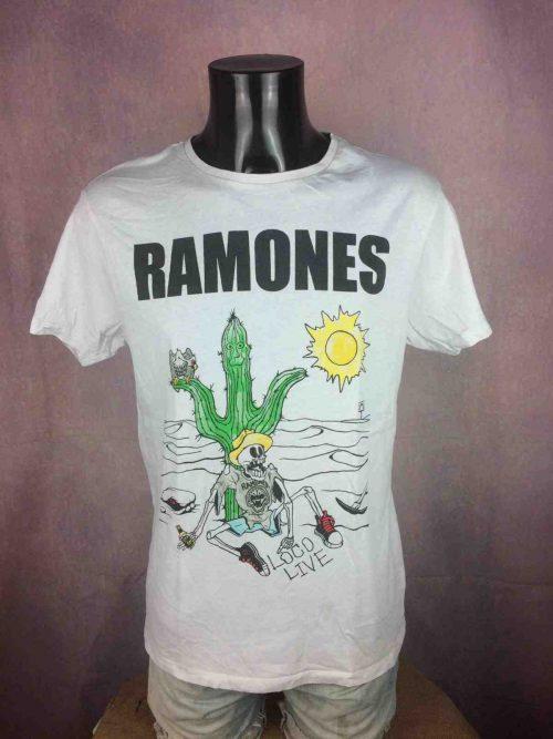 T-Shirt RAMONES, éditionLoco Live, année2017, Official License © Ramones 1234, Concert Punk Rock Cartoon