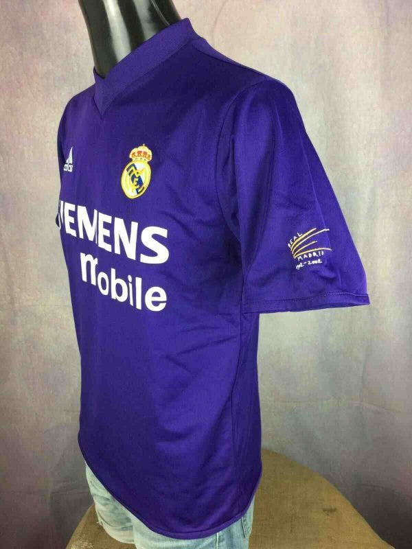 REAL MADRID Jersey Maillot Vintage 2001 2002 Third  57 1 - REAL MADRID Jersey 2001 Reversible Adidas
