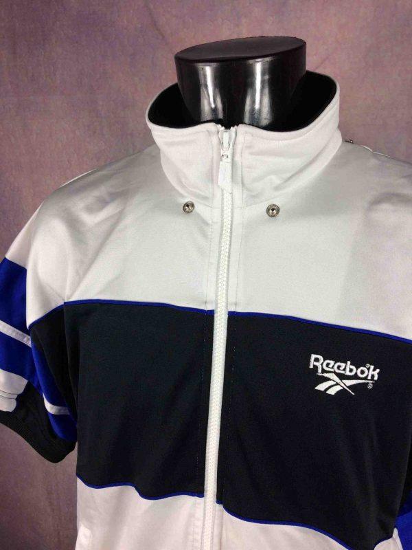 REEBOK Veste Short Sleeves Vintage 90s White Gabba Vintage 3 scaled - REEBOK Veste Vintage Années 90s Manche Courte