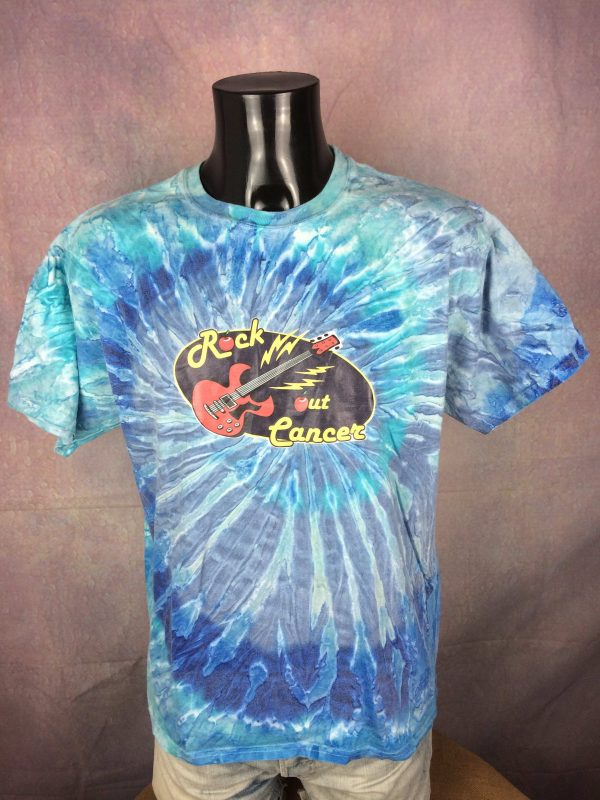 ROCK OUT CANCER T Shirt Tie Dye Guitar Music Live Concert Tour Hanes Fight Back Gabba Vintage 2 scaled - ROCK OUT CANCER T-Shirt Tie Dye Guitar Music