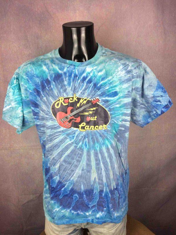 ROCK OUT CANCER T Shirt Tie Dye Guitar Music Live Concert Tour Hanes Fight Back Gabba Vintage 2 scaled - ROCK OUT CANCER T-Shirt Tie Dye Guitar Music