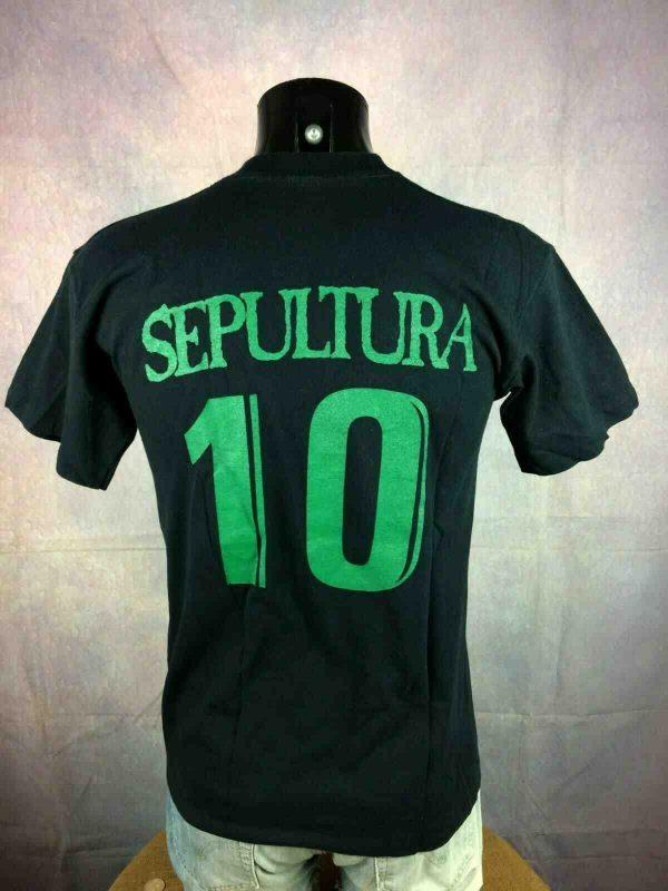 SEPULTURA T Shirt 10 Vintage 90s Football Gabba Vintage 2 - SEPULTURA T-Shirt Vintage Année 90 Football