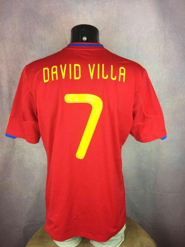SPAIN Jersey 2010 2011 Home Villa 7 Adidas Gabba Vintage 4 scaled - SPAIN Jersey 2010 2011 HomeVilla #7 Adidas