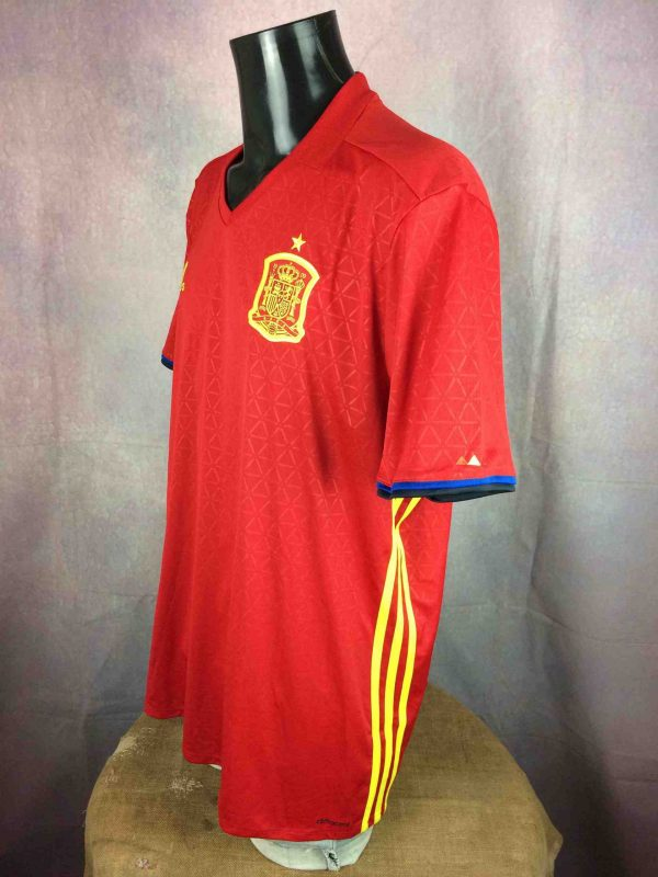 SPAIN Jersey 2015 2016 Home Adidas BNWT Gabba Vintage 3 scaled - ESPAGNE Maillot 2016 Home Adidas Neuf Foot