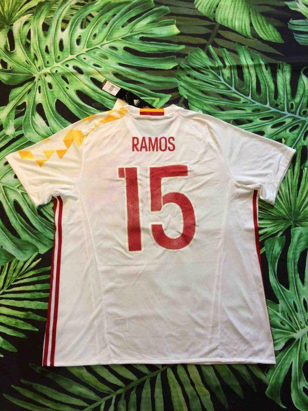 SPAIN Jersey 2016 Ramos 15 Away Adidas BNWT Gabba Vintage 1 scaled - ESPAGNE Maillot 2016 Ramos Away Adidas Neuf