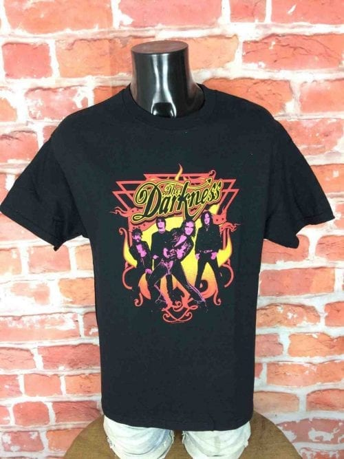 T-Shirt THE DARKNESS, édition 2004, Official License, marque Cinder Block, Véritable vintage 00s,British Rock Pop Concert