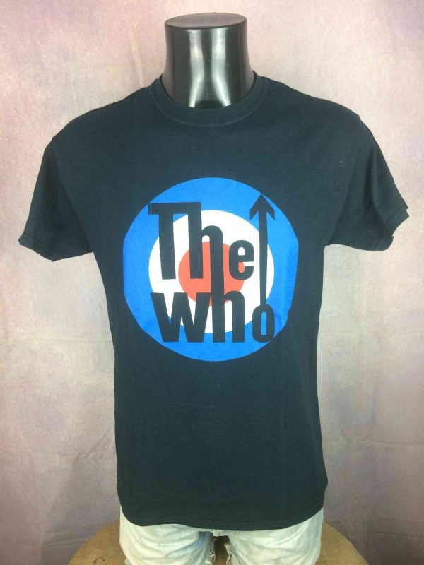 THE WHO T Shirt Official License Logo Mod Gabba Vintage 2 scaled - THE WHO T-Shirt Official License Logo Mod