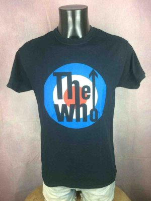 T-Shirt THE WHO, édition Logo, Official License, marque The Who, Mod Rock Concert British Concert