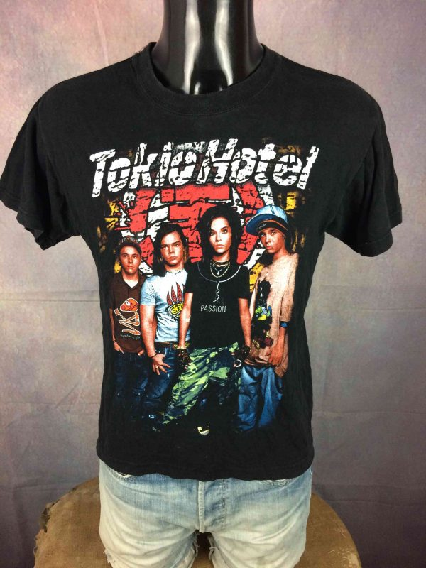 TOKIO HOTEL T Shirt Double Sided Colorised Gabba Vintage 2 scaled - TOKIO HOTEL T-Shirt Double Sided Colorised
