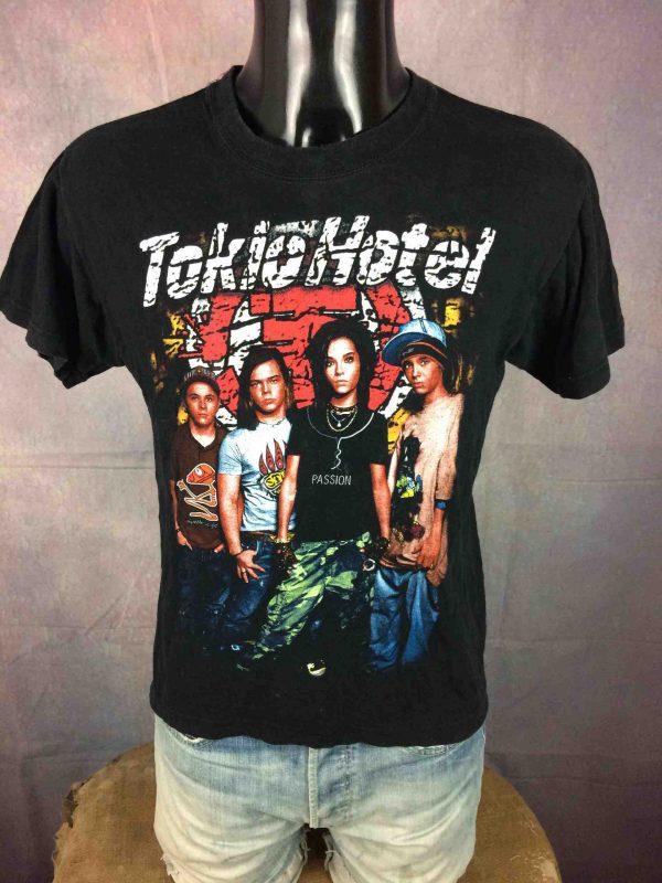 T-Shirt TOKIO HOTEL, édition colorisé, double face avec logo au dos, marque Life, Rock Band Emo Pop Glam Germany