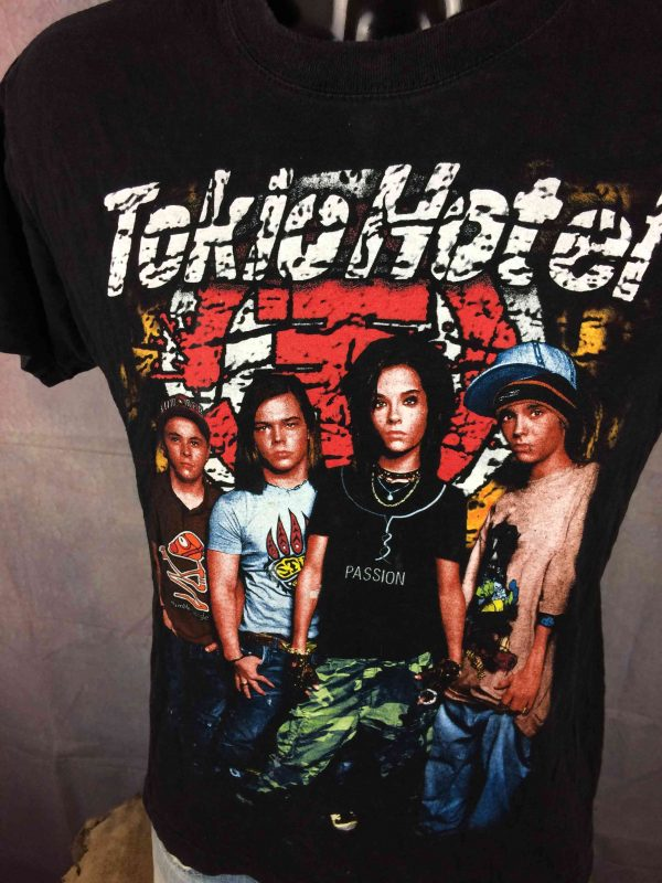 TOKIO HOTEL T Shirt Double Sided Colorised Gabba Vintage 3 scaled - TOKIO HOTEL T-Shirt Double Sided Colorised