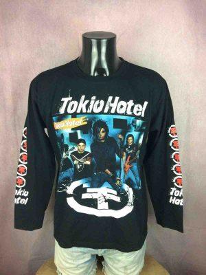 T-Shirt TOKIO HOTEL, manches longues, double face avec manches imprimées, marque Rock O Gang, Rock Band Emo Pop Glam Legends