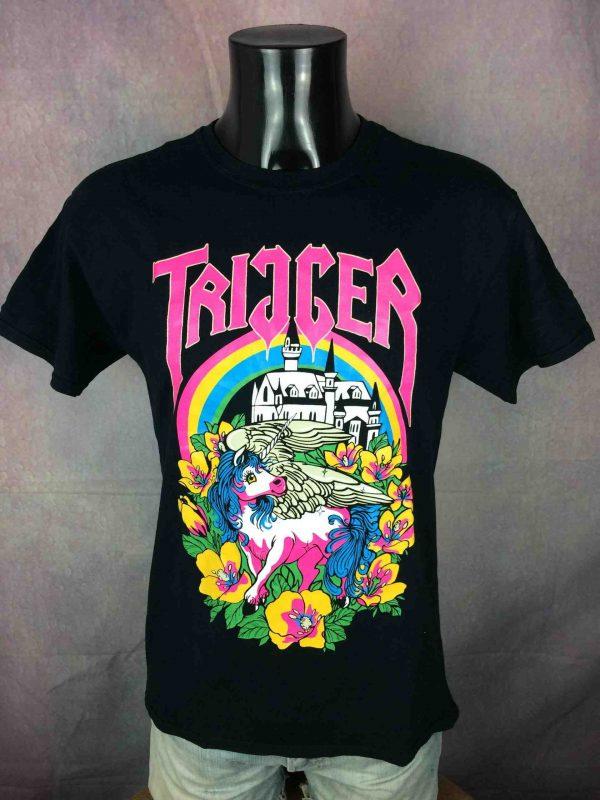 TRIGGER T Shirt Unicorn Licorne Neon Fluo Gabba Vintage 2 scaled - TRIGGER T-Shirt Unicorn Licorne Neon Fluo