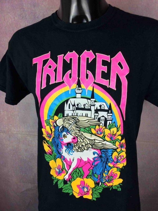 TRIGGER T Shirt Unicorn Licorne Neon Fluo Gabba Vintage 3 scaled - TRIGGER T-Shirt Unicorn Licorne Neon Fluo