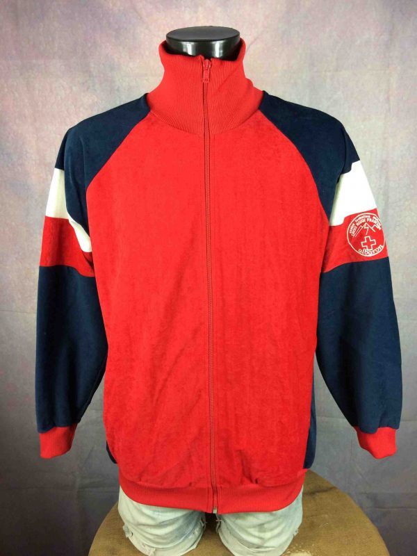 VINTAGE 80s Veste Made in France Croix Rouge Gabba Vintage 1 scaled - VINTAGE 80s Veste Made in France Croix Rouge