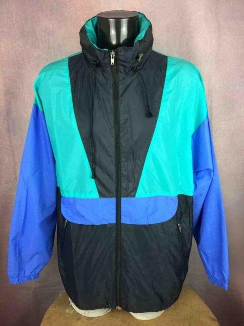 VINTAGE 90s Rain Jacket Impermeable Nylon - Gabba Vintage