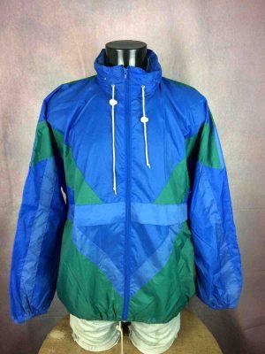 VINTAGE 90s Rain Jacket Nylon Waterproof Y2K - Gabba Vintage