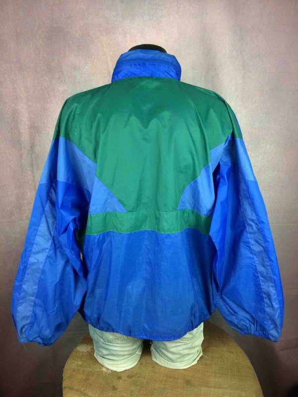VINTAGE 90s Rain Jacket Nylon Waterproof Y2K Gabba Vintage 4 scaled - Veste Impermeable Vintage Années 90s Rave