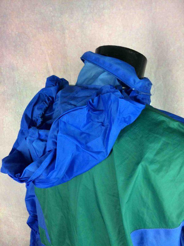 VINTAGE 90s Rain Jacket Nylon Waterproof Y2K Gabba Vintage 5 scaled - Veste Impermeable Vintage Années 90s Rave