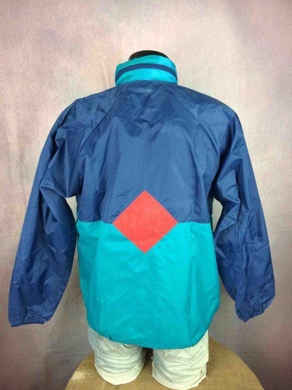 VINTAGE 90s Rain Jacket Waterproof Rave Y2K - Gabba Vintage (4)