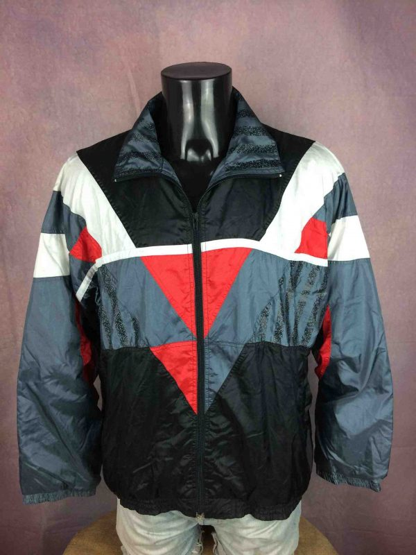 VINTAGE 90s Windbreaker Veste Double Design Gabba Vintage 3 scaled - VINTAGE 90s Windbreaker Veste Doublé Design