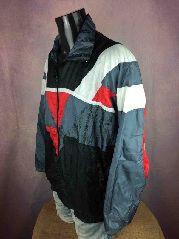 VINTAGE 90s Windbreaker Veste Double Design Gabba Vintage 4 scaled - VINTAGE 90s Windbreaker Veste Doublé Design
