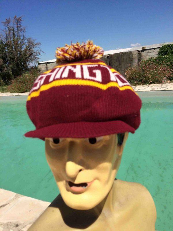 CasquetteWASHINGTON REDSKINS, véritable vintage années 80s, Pompon Pom-Pom Knit NFL Hockey Cap Gorra Hat