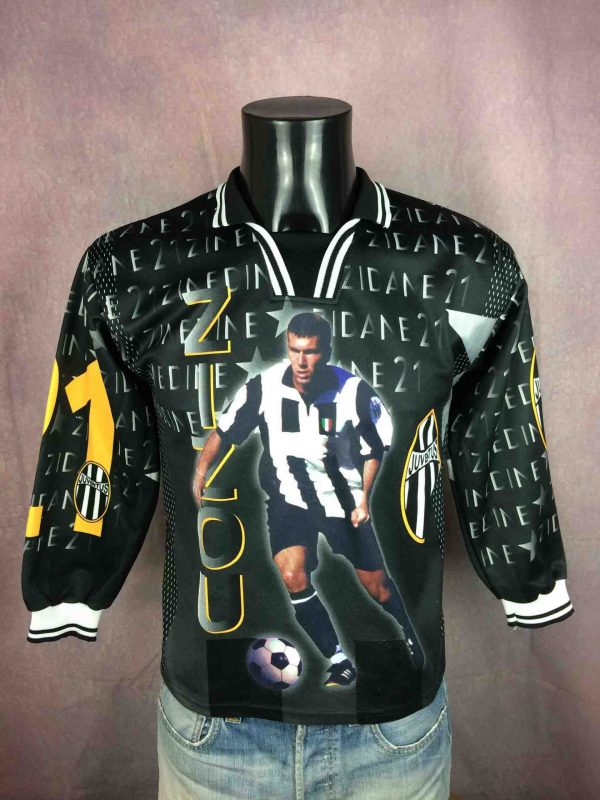 Maillot ZIDANE , Copyright Zinedine Zidane, Année 1998, Made in France, manches longues, Véritable vintage années 90, #10 Juventus France World Cup Football