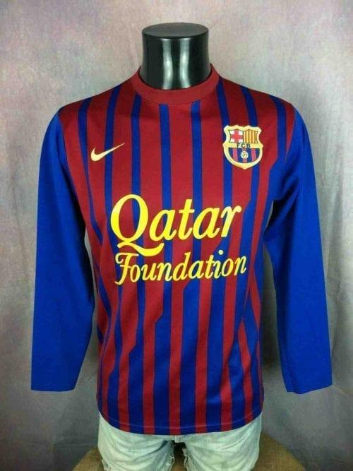 Maillot BARCELONE FC, saison 2011 2011, version Home, Floqué N°10 Messi, Manches longues, Sans marque NO NIKE, Espagne Liga AFA Barca FCB Replica, Jersey Camiseta Trikot Football