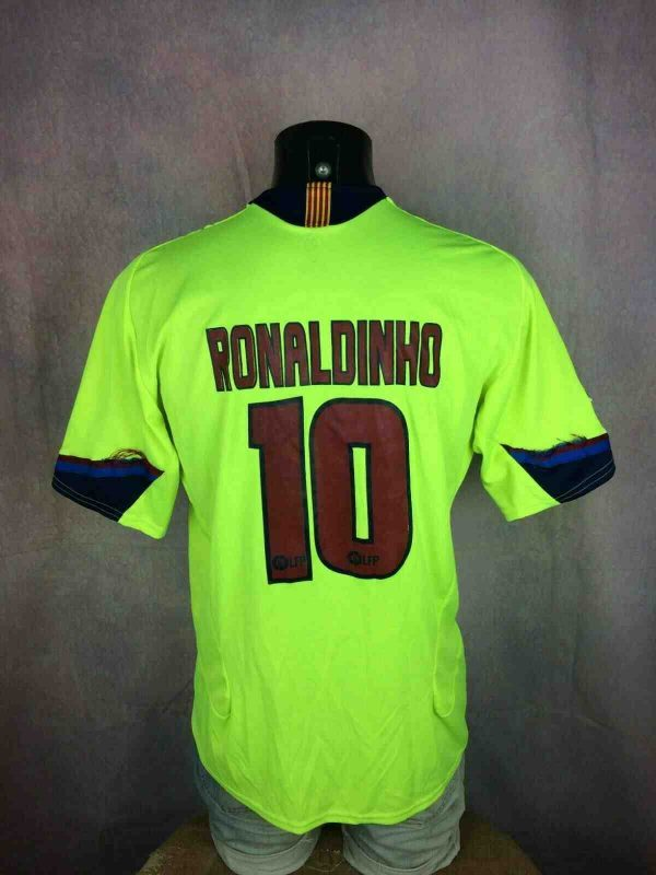 s l1600 8 - RONALDINHO Jersey #10 Away Barcelona Replica