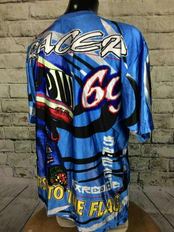 69 RACER T Shirt Vintage 00s Racing Motors Gabba Vintage 5 - 69 RACER T-Shirt Vintage 00s Racing Motors